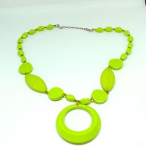 Jewelry - 80's Looking Neon Green Necklace